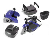 Travel Scooter Broken Down in 5 Pieces