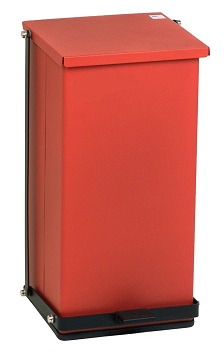 Step-On Medical Waste Can Receptacle – Red