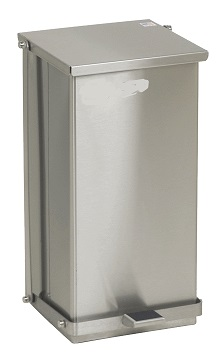 Step-On Medical Waste Can Receptacle – Stainless Steel