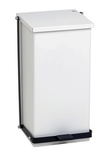 Step-On Medical Waste Can Receptacle – White