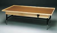 Raised Rim Manual Hi-Low Mat Table