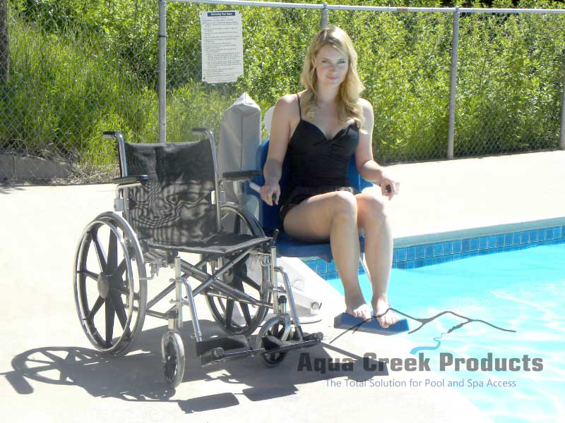 pro pool lift with wheelchair
