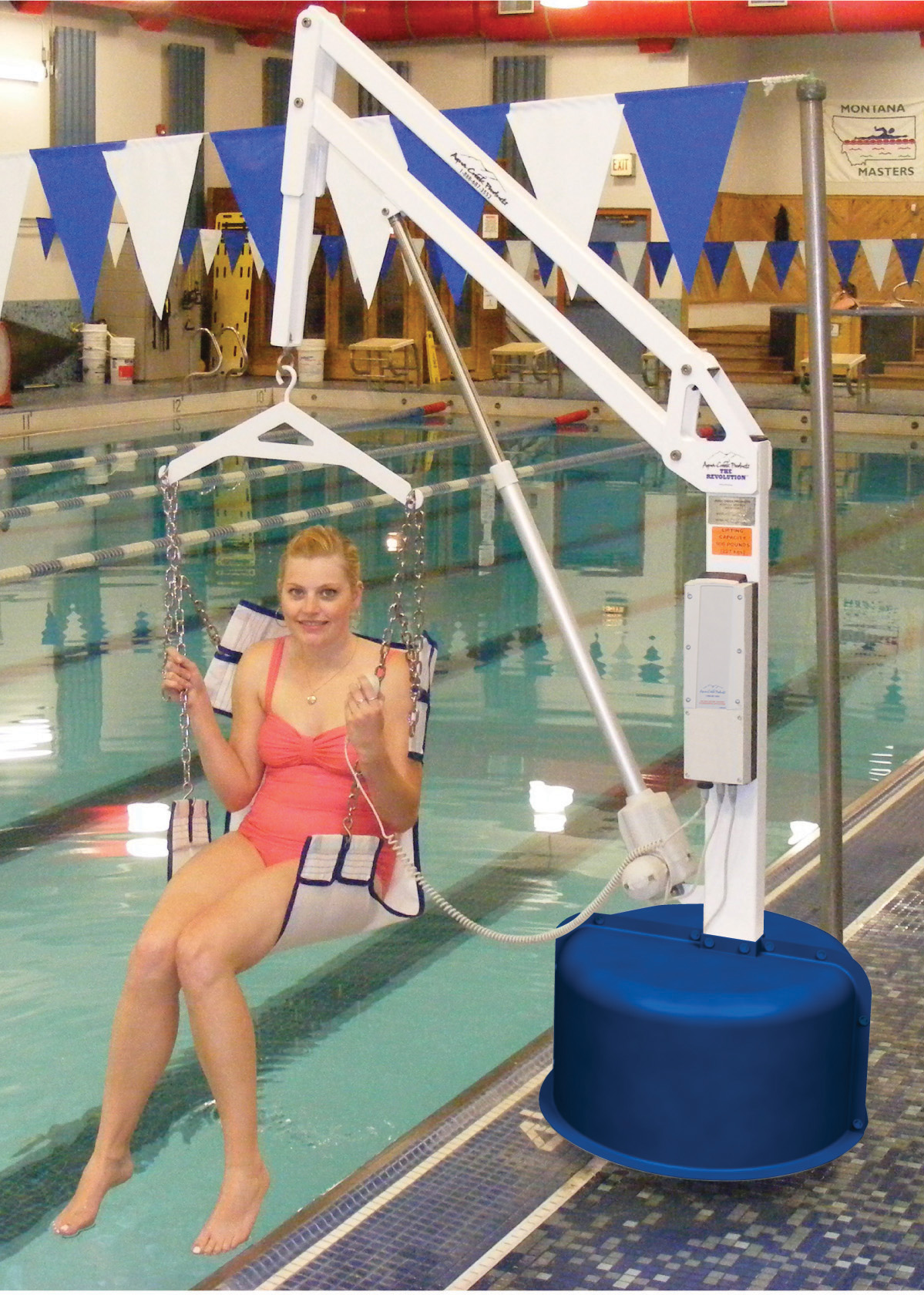 revolution pool lift with sling