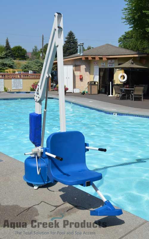 scout pool lift empty