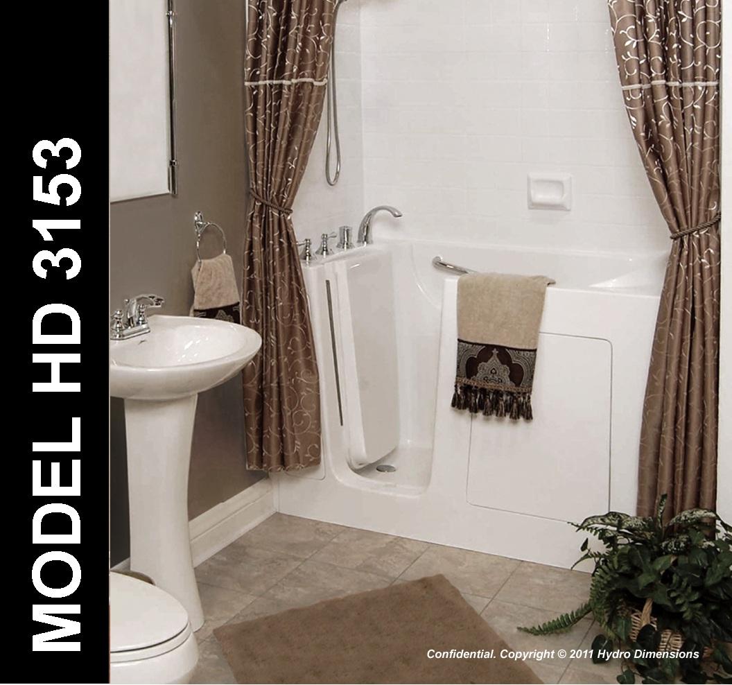 Hydro Dimensions 31″ x 53″ Walk-In Bathtub