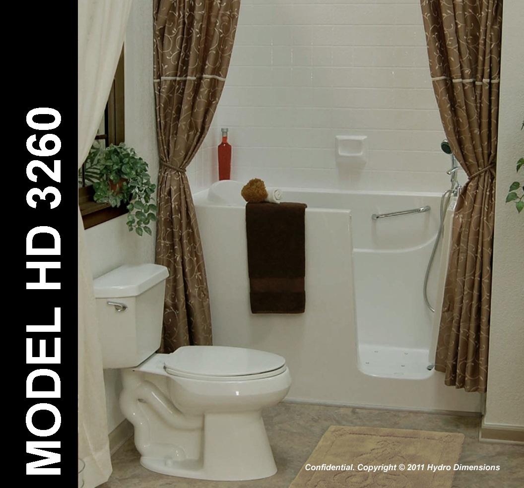 Hydro DImensions 3260 Walk-In Bathtub