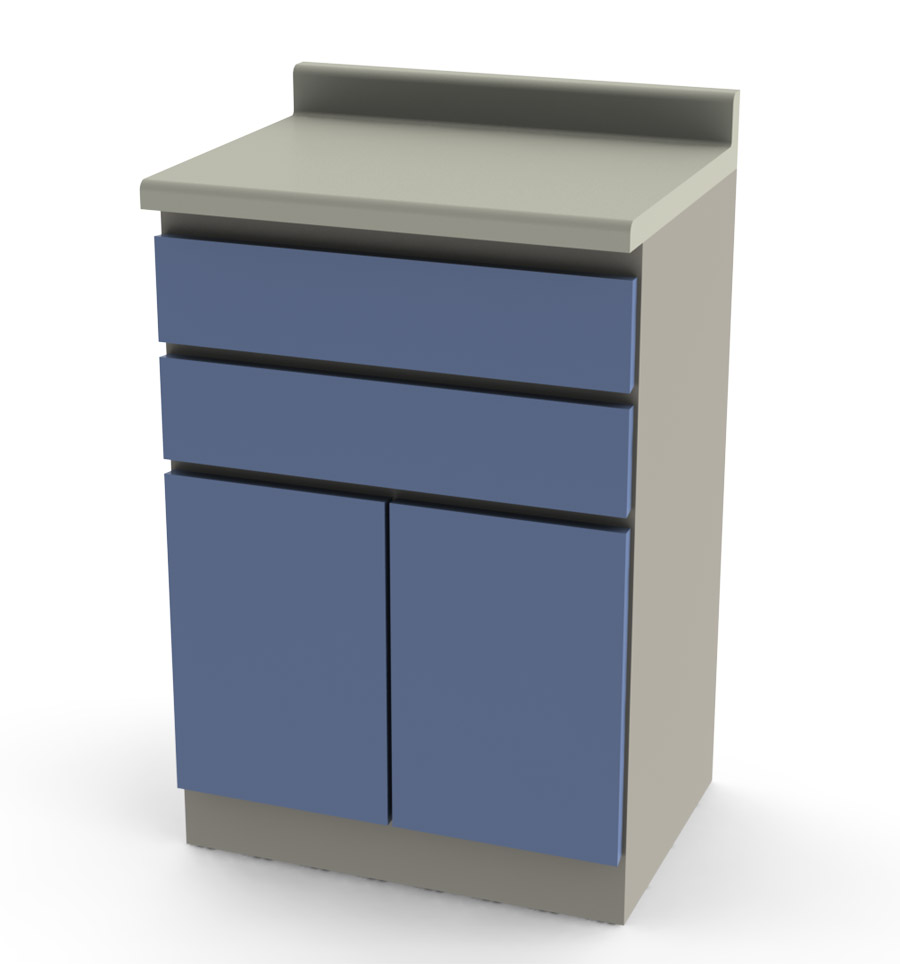 Modular Medical Cabinet 2 drawers and 2 doors