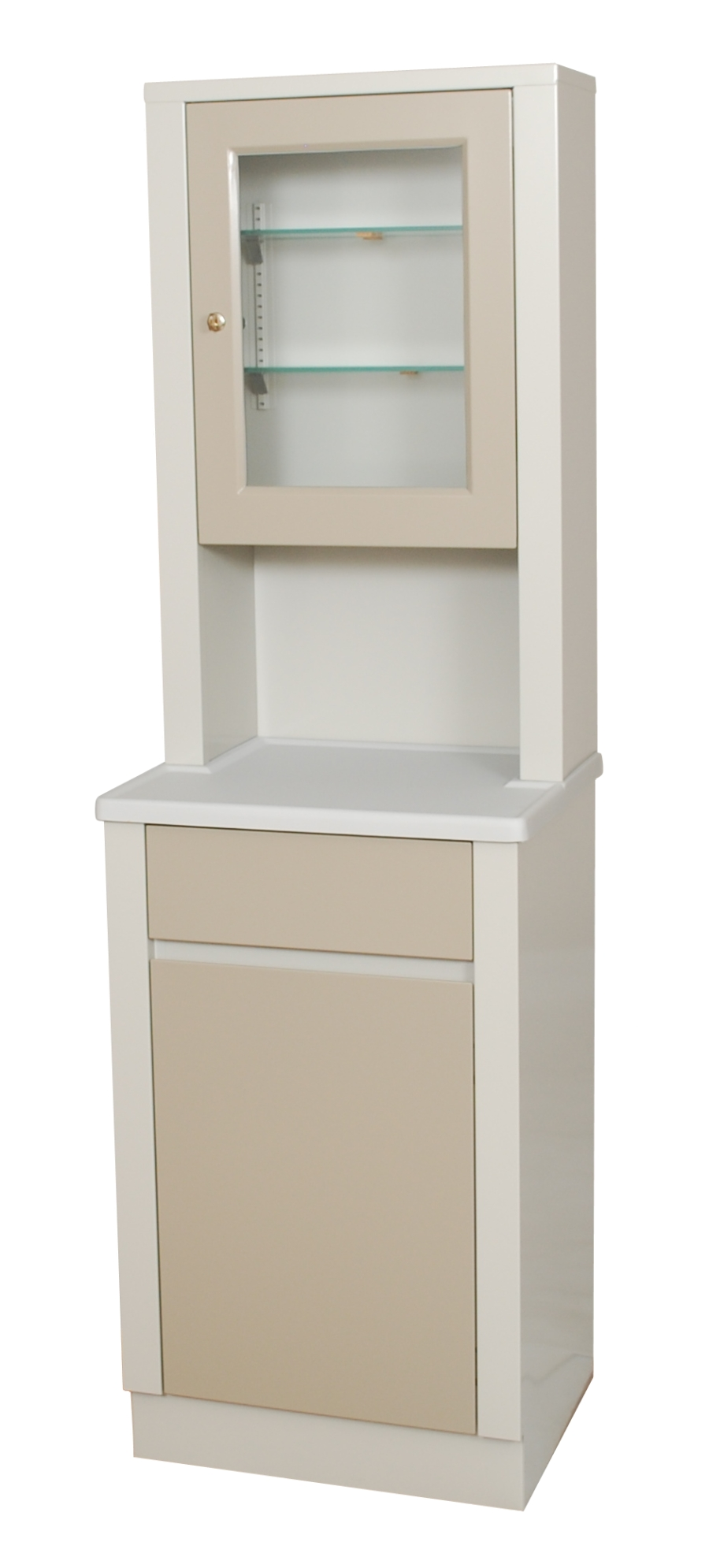 Modular Treatment Cabinet with Overhead Glass Cabinet