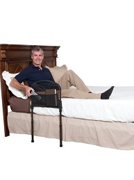 stable bed rail with support legs