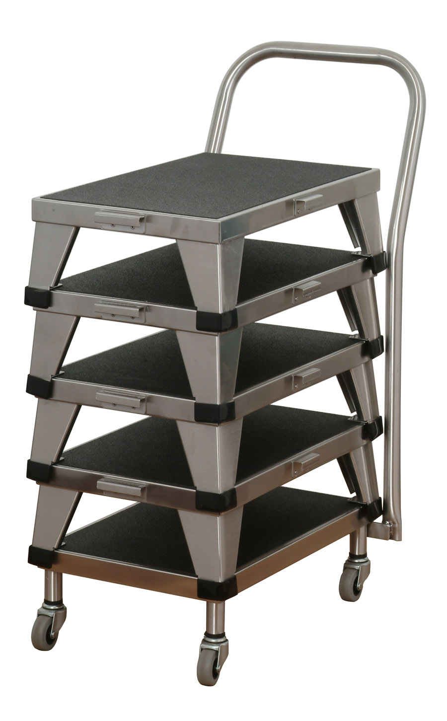 8380 Stainless Steel Foot Stools on 8381 Transport Cart
