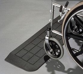 Rubber Threshold Ramp w/ Wheelchair