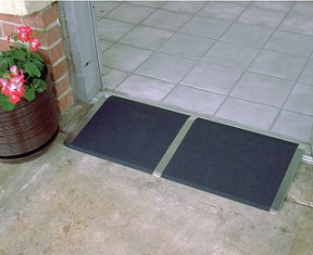Threshold Ramp with Traction Tape