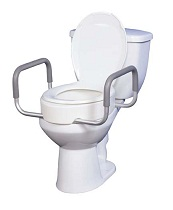 Toilet-Commode Seat Riser with Arms