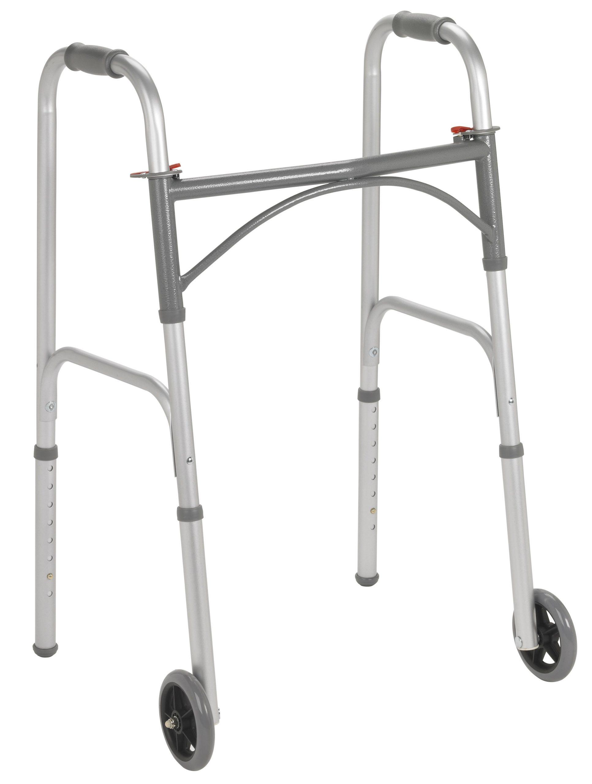 Aluminum folding walker